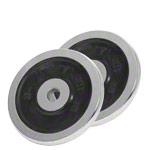 Sport Gewichte - KETTLER Hantelscheibe Chrom/Gummi, ø 3 cm, 5 kg, Paar