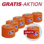Cure Tape, Aktion: 5 Rollen, 5 m x 5 cm, orange + 1 Rolle GRATIS