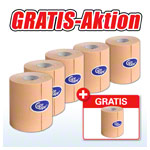 Cure Tape, Aktion: 5 Rollen, 5 m x 7,5 cm, neutral + 1 Rolle