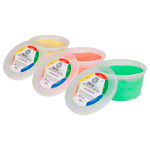 Theraflex Therapie-Knetmasse, Set: 450 g, je 1x soft, medium, strong, 3-tlg.