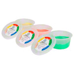 Theraflex Therapie-Knetmasse, Set: 85 g, je 1x soft, medium, strong, 3-tlg.