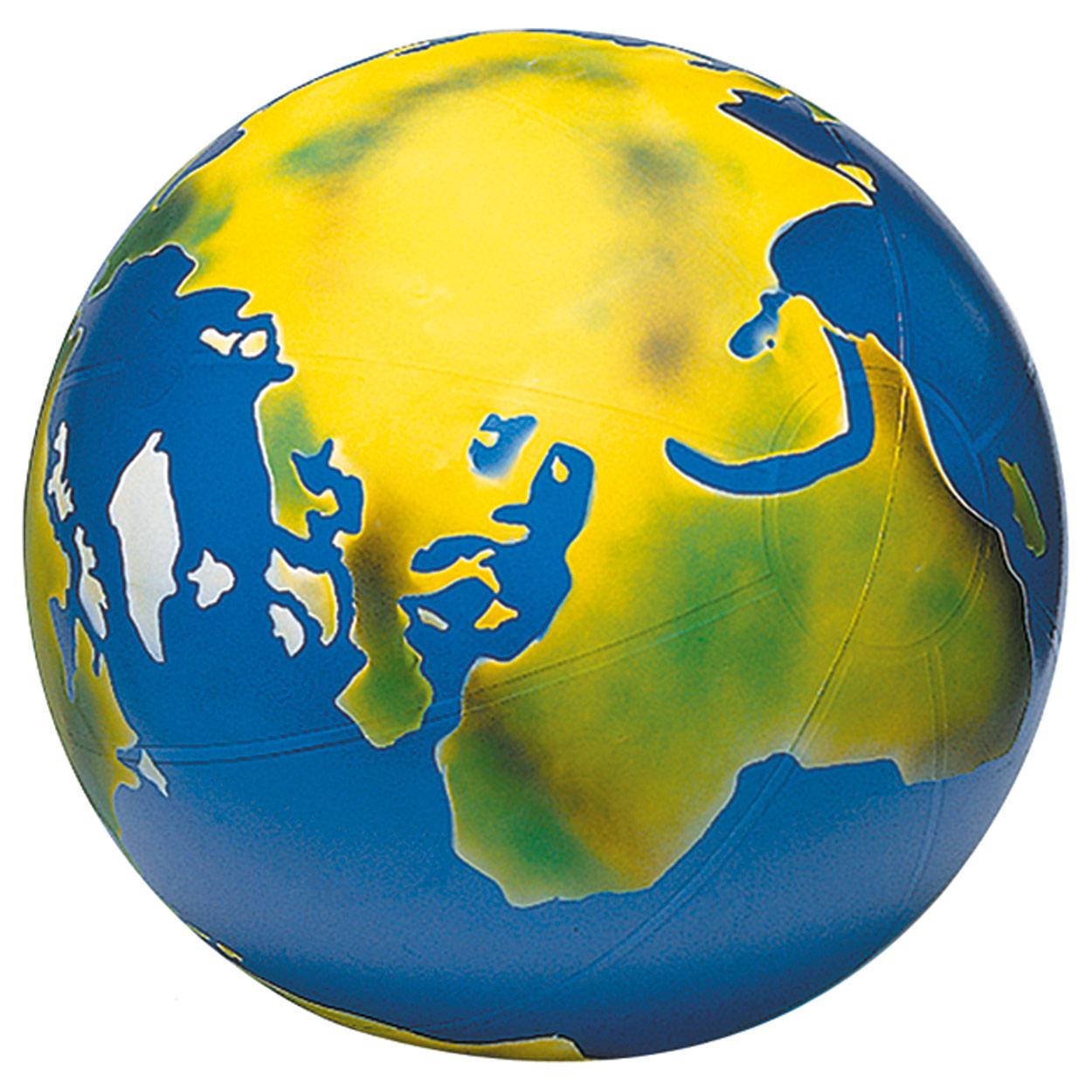Weltkugel Kinder TOGU Erdball mit Schablonierung aufblasbarer Globus
