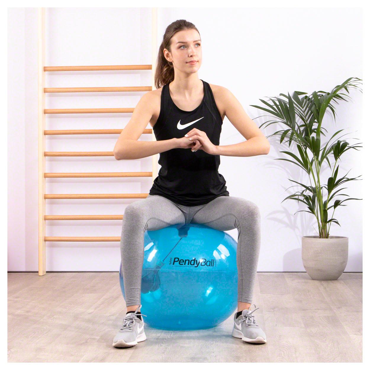 PEZZI-Gymnastikball-PendyBall-mit-Pendel-blau