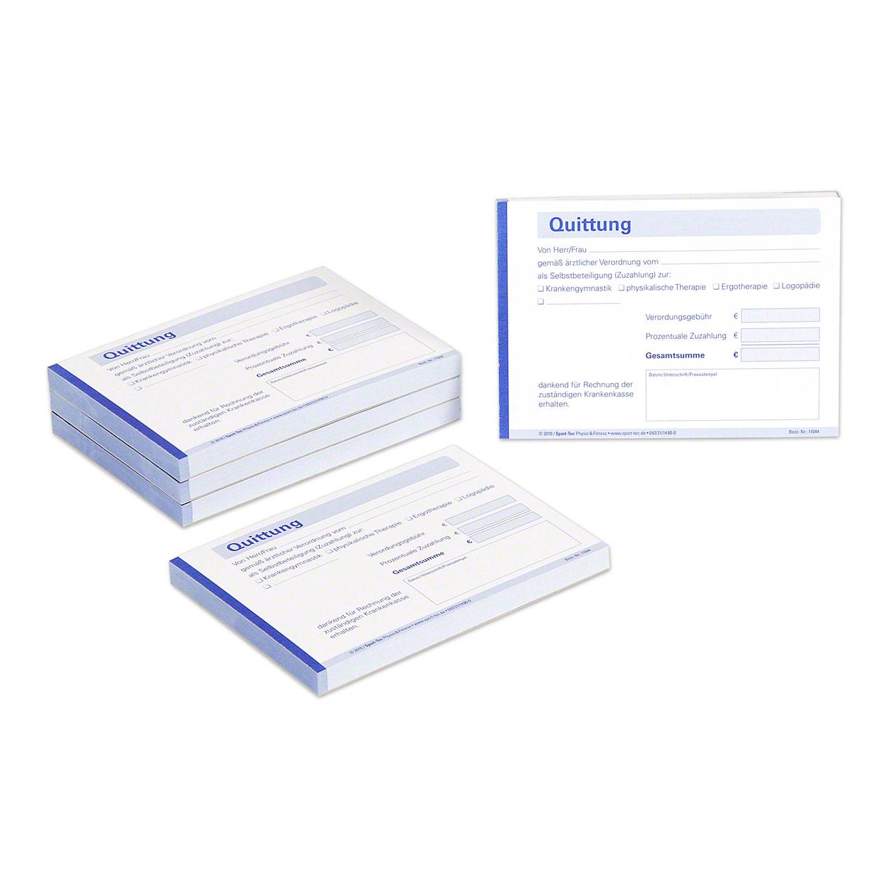 Quittungsblock Quittungsbuch Quittung Quittungen Kassenblock 5x100St DIN A6 quer