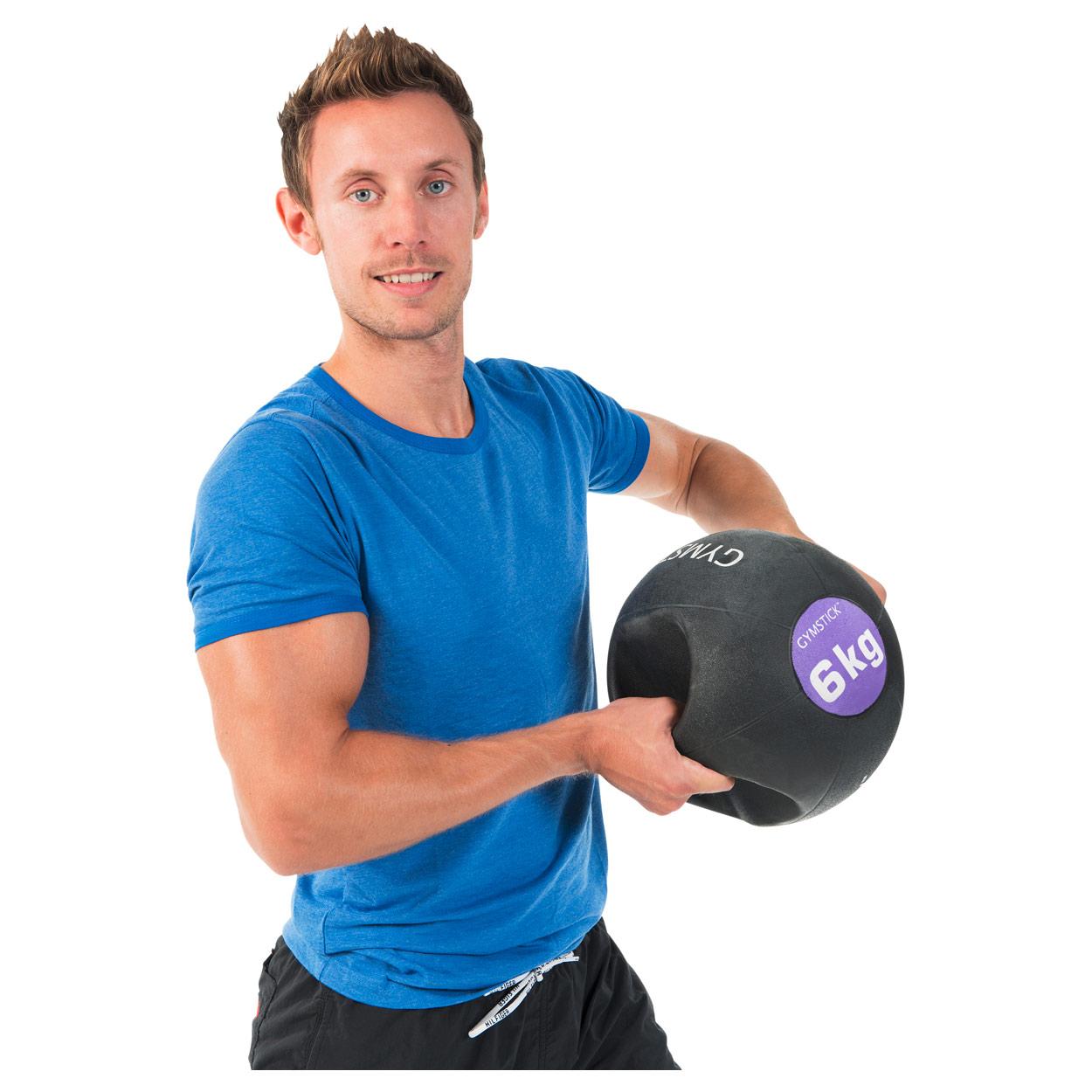 Gymstick Gymstick Gymstick Medizinball mit Griffen Gewichtsball Fitnessball Rehaball 25 cm 64f1e1