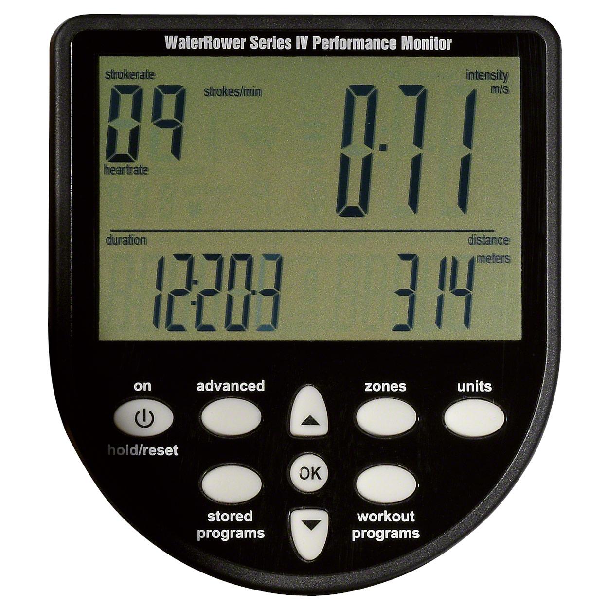 S4 Monitor Pulsempfänger Brustgurt Bodenschutzmatte WaterRower Rudergerät Esche
