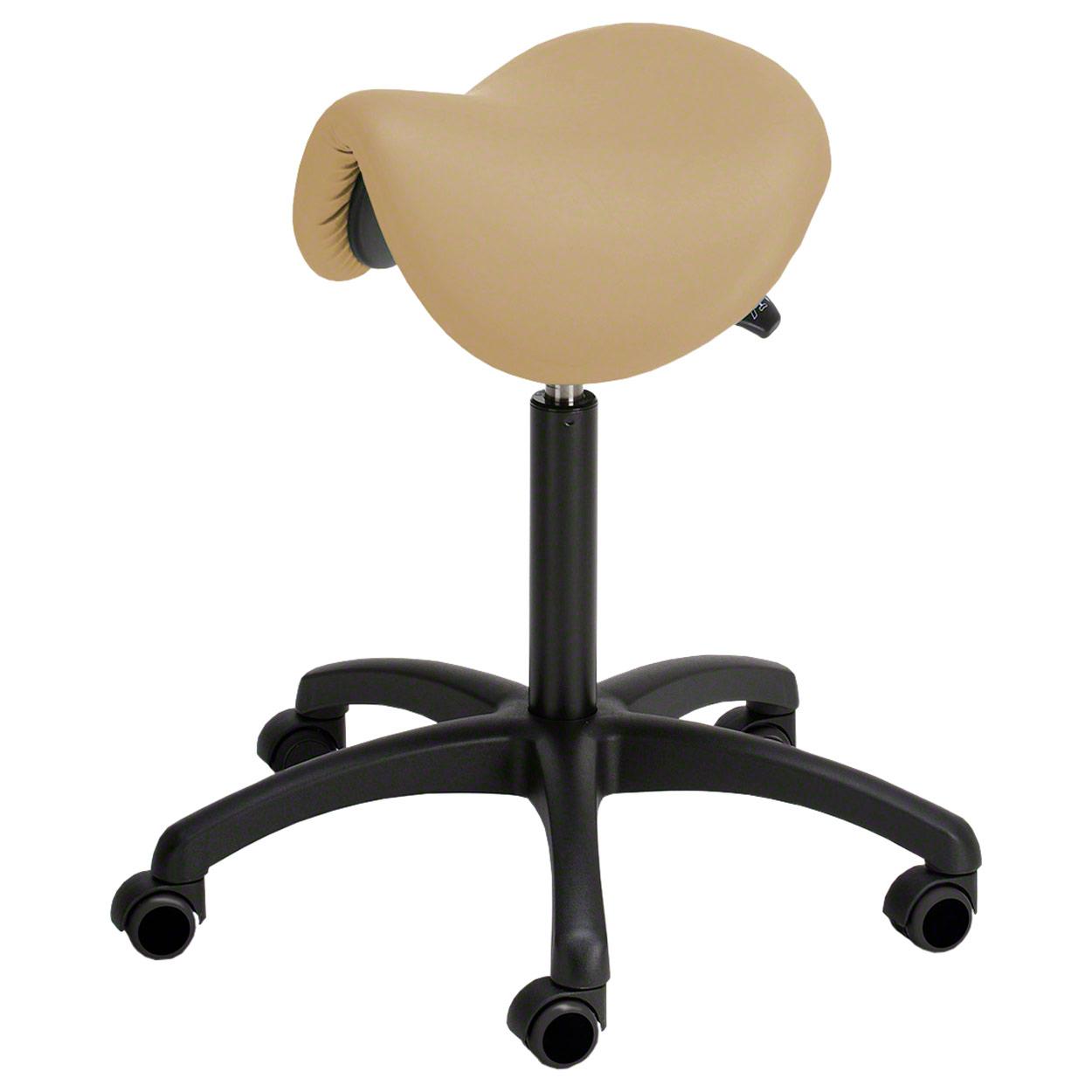 sattelhocker standard mit polster und rollen rollhocker. Black Bedroom Furniture Sets. Home Design Ideas