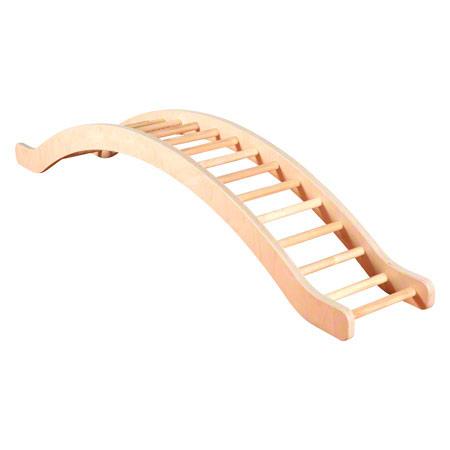 Kletterwippe mit Holzsprossen, LxBxH 210x35x36 cm 02657