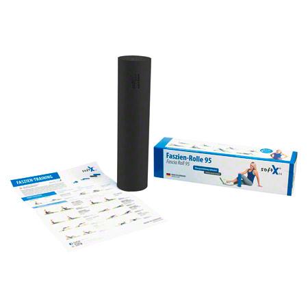 softX® Faszien-Rolle 95, ř 9,5 cm x 40 cm, schwarz, Härtegrad: hart 02703