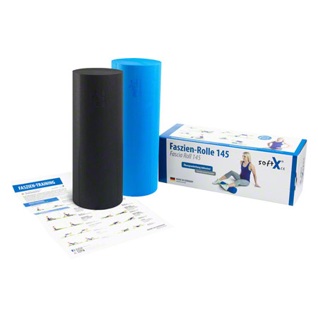 softX® Faszien-Set Rolle 2-tlg., Rolle 145, blau/schwarz 02707