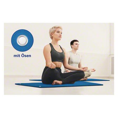Sport-Tec Pilates- und Yogamatte inkl. Ösen, LxBxH 140x60x0,6 cm, blau 03017