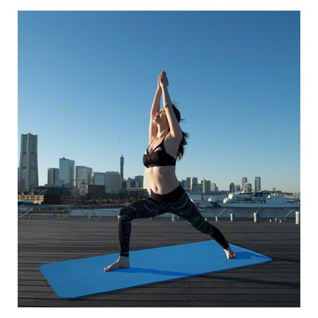 Sport-Tec Pilates- und Yogamatte, LxBxH 180x60x0,6 cm, blau 03018