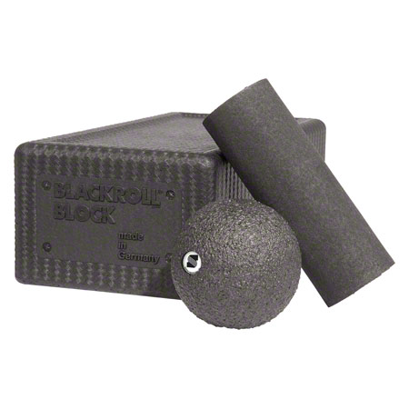 BLACKROLL Block-Set, 3-tlg., 1 Blackroll Block, 1 Blackroll Mini, 1 Blackroll Ball ř 8 cm 03208