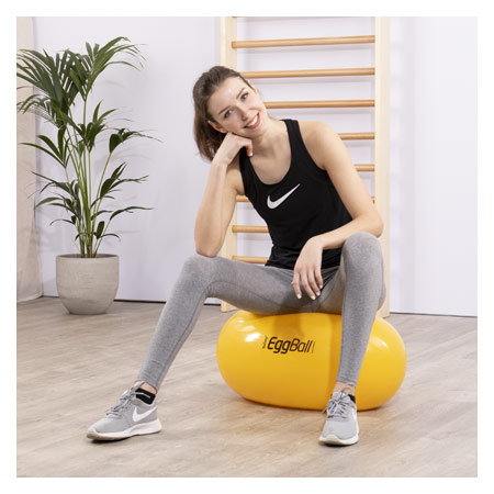 PEZZI Therapierolle Eggball, Ř 45 cm x 65 cm, gelb 03440
