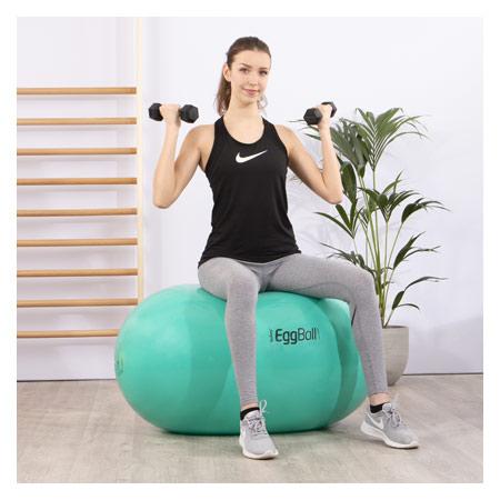PEZZI Therapierolle Eggball, Ř 65 cm x 95 cm, grün 03444