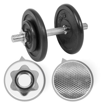 Sport-Tec Kurzhantel-Set, 15 kg, 5-tlg.