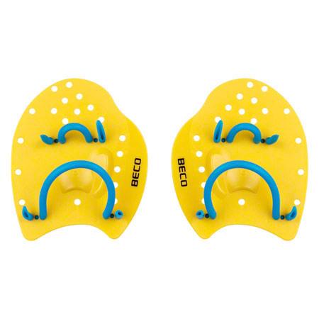 BECO Power Paddles Schwimmtrainer, Gr. S, Paar, gelb 04526