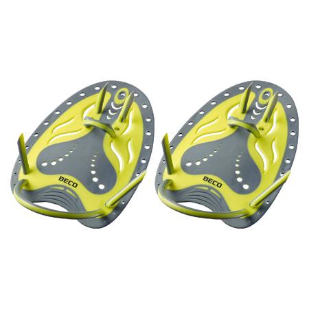 BECO Handpaddles Flex Schwimmtrainer, Gr. S, gelb, Paar 04538