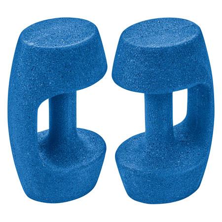 BECO AquaHantel BEbell M, leicht, blau, Paar 04547