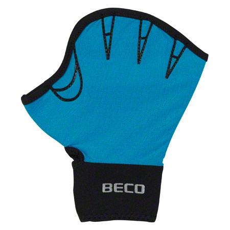 BECO Neoprenhandschuhe mit Fingeröffnung, Gr. S, Paar, türkis 04574