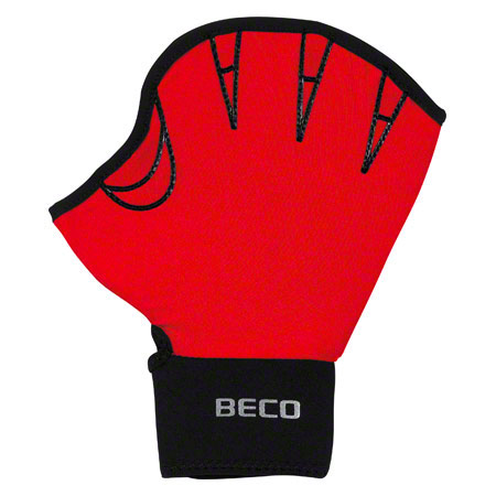 BECO Neoprenhandschuhe mit Fingeröffnung, Gr. M, Paar, rot 04575