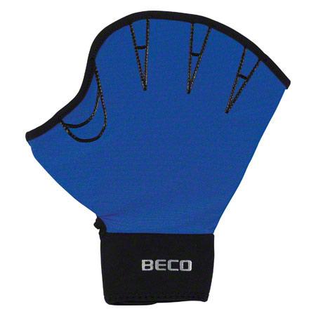 BECO Neoprenhandschuhe mit Fingeröffnung, Gr. L, Paar, blau 04576