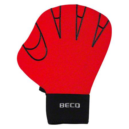BECO Neoprenhandschuhe ohne Fingeröffnung, Gr. M, Paar, rot 04578