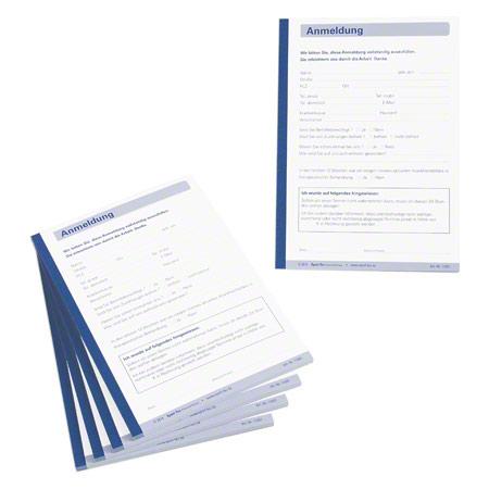 Sport-Tec Anmeldung, 5 Blöcke ŕ 50 Blatt (250 Blätter), DIN A5 11031