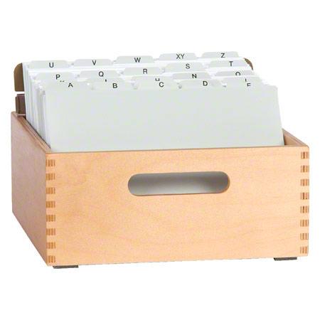 Sport-Tec Karteitrog-Set, 202-tlg., aus Holz für max. 900 Karten (A5) inkl. 200 Karteikarten & Register, 11068