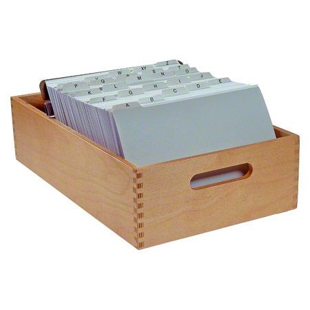 Sport-Tec Karteitrog-Set, 202-tlg., aus Holz für max. 1500 Karten (A5) inkl. 200 Karteikarten & Register, 11069