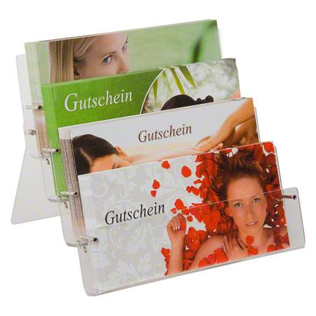 Sport-Tec Gutschein-Set, 101-tlg., 100 Gutscheine inkl. Acrylglas-Ständer 11109