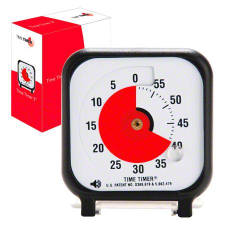 TimeTimer Time Timer Tischuhr mit akustischem Signal, 60 Min., klein, 7,5x7,5 cm 14040