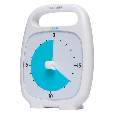 TimeTimer Time Timer Plus Tischuhr mit akustischem Signal, 20 Min., 14x18 cm 14044