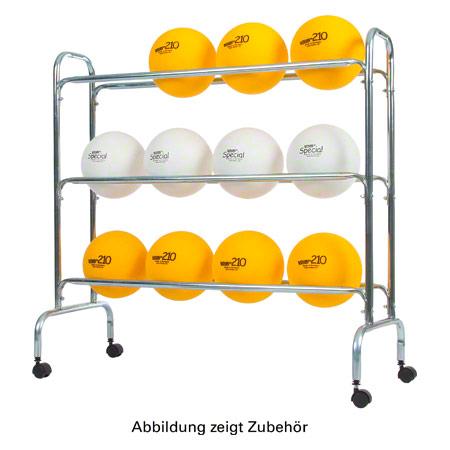 Sport-Tec Ballregal für bis zu max. 12 Bälle, fahrbar 17105
