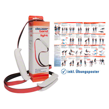 deuser sports Deuser Band Light, schwarz/rot 21052