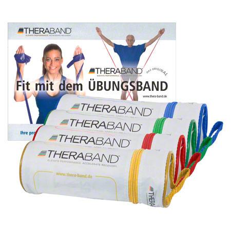Thera-Band Thera-Bänder 4er-Set inkl. Taschen und Anleitung, 4 Stärken 21070