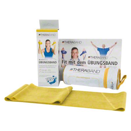 Thera-Band inkl. Tasche und Anleitung, 2,50 m x 12,8 cm, leicht, gelb 21071