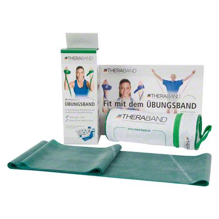 Thera-Band inkl. Tasche und Anleitung, 2,50 m x 12,8 cm, stark, grün 21073