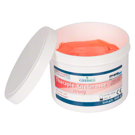 cosiMed Therapie-Knetmasse strong, 500 g, rot 21097