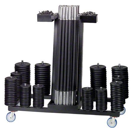 Get-Fit Langhantelwagen mit 20 Langhantel-Sets 22572