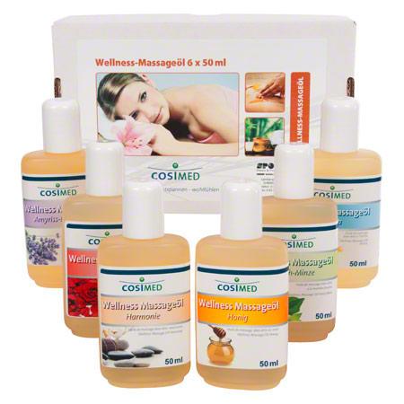Probierset cosiMed Wellness-Massageöle, 6 Flaschen ŕ 50 ml 24060