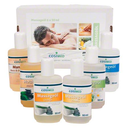 Probierset cosiMed Massageöle, 6 Flaschen ŕ 50 ml 24061