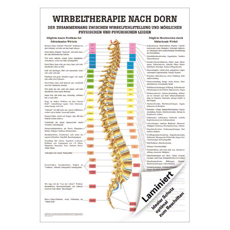 "Lehrtafel ""Dorntherapie"", LxB 100x70 cm 25007"