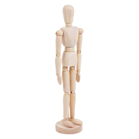Modellpuppe männlich inkl. Stativ, 30 cm 25250