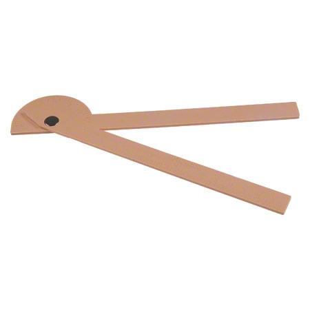 Winkelmesser aus Kunststoff, Schenkellänge 15 cm 25300