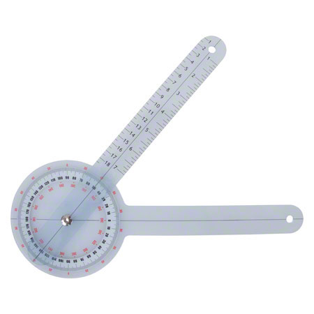 Goniometer Winkelmesser, Schenkellänge 20 cm 25302