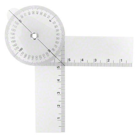 Sport-Tec Finger-Winkelmesser, Schenkellänge 8 cm, transparent 25309