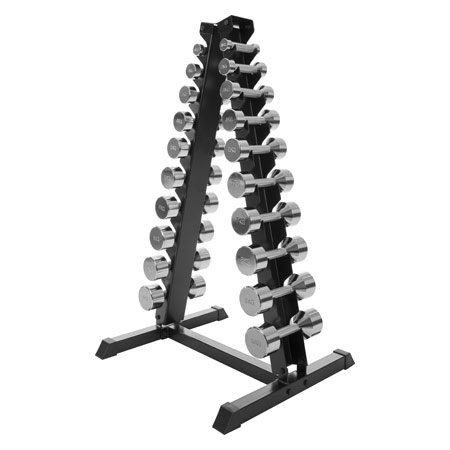 Sport-Tec Kurzhantel-Ständer-Set mit 10 Paar Chrom Hanteln, 1-10 kg, LxBxH 74x62x128 cm