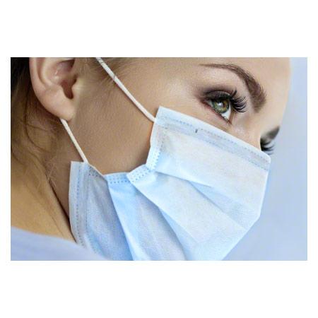 Sport-Tec Medizinischer Einmal-Mundschutz mit Elastikband und Nasenbügel, 50 Stück 28555