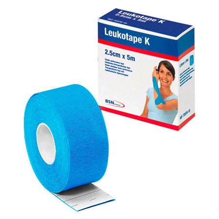BSN Leukotape K, 5 m x 2,5 cm, blau 28747